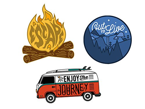 - Asilda Store Adventure Sticker Set #2 [Premium Quality Matte Waterproof Vinyl Stickers for Water Bottles]