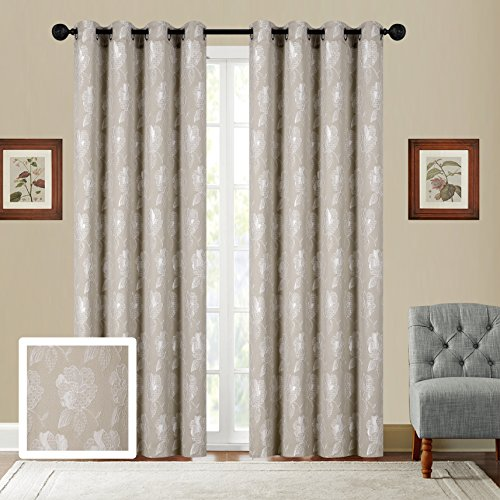 Fancy Collection Set of 2 Panels Curtain Embroidery Woven Jacquard Curtain,108