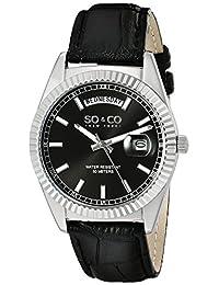 SO & CO New York Men's 5041.1 Madison Analog Display Japanese Quartz Black Watch