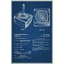 Joystick Atari 2600 Video Gaming Official Patent Blueprint Poster 12x18