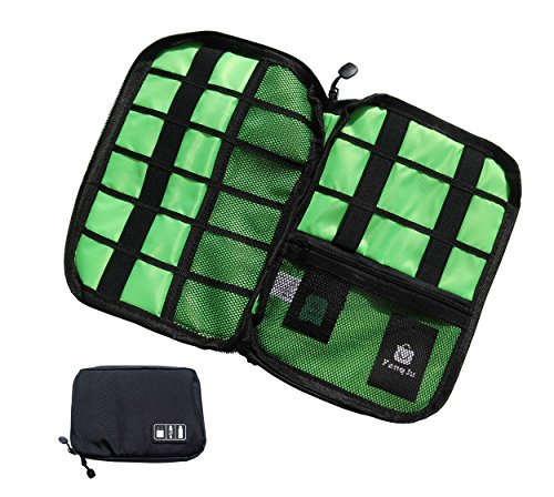 Electronics Organizer Electronics Accessories Travel Cable Case Bag for Hard Drives, Various USB, Phone, Charger and Cable, Black by Fengju