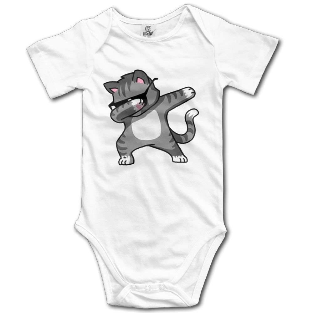 Dabbing Cool Cat Infant Climbing Clothes Romper Funny Jumpsuit Outfits