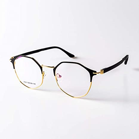 Yangjing-hl Gafas Retro Montura Poligonal Gafas Hombre y ...