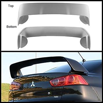 Mitsubishi 08-15 Lancer Spoiler Rear Trunk Tail Wing Unpaint Evo Evolution Style