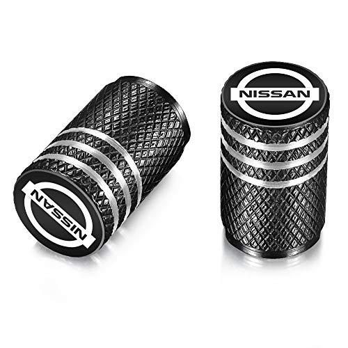 QINGTECH Valve Stem Caps,Nissan Accessories Tire Caps for Car,Motorbike,Trucks,Bike and Bicycle Aluminum 4pcs
