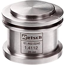 Retsch 01.462.0240 Stainless Steel Grinding Jar for PM 100 / PM 200 / PM 400 Planetary Ball Mill, 25mL Capacity