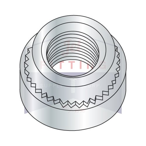 12-24-3 Self Clinching Nuts | Case Hardened Steel | Zinc Plated (QUANTITY: 5000) by Jet Fitting & Supply Corp