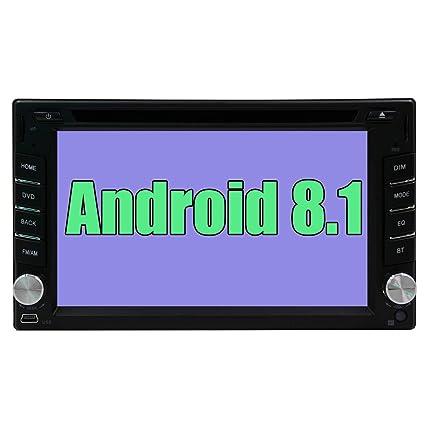 Coche Radio DVD GPS Navigation Doble DIN Unidad Principal Sistema Sistema Android 8.1 6.2 Pulgadas de