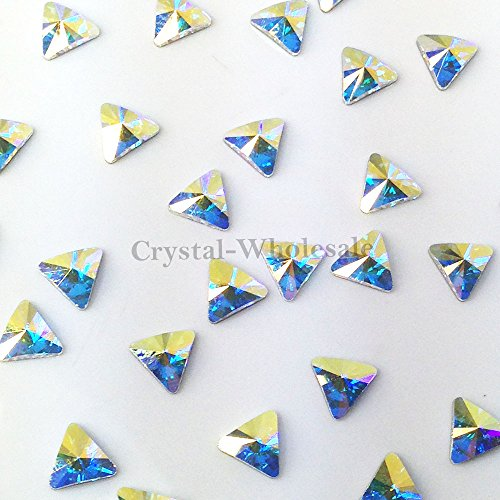 CRYSTAL AB (001 AB) Swarovski 2716 Triangle - 5mm Flatbacks No-Hotfix Rhinestones 12 pcs from Mychobos (Crystal-Wholesale) ()