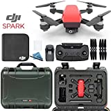 DJI Spark + Custom Nanuk Waterproof Travel Case - Lava Red - Olive Case