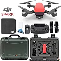 DJI Spark + Custom Nanuk Waterproof Travel Case - Lava Red - Olive Case