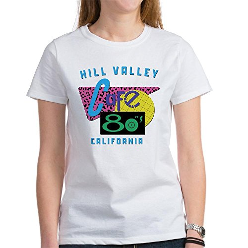 CafePress - Cafe 80'S - Womens Cotton T-Shirt, Crew Neck, Comfortable & Soft Classic Tee