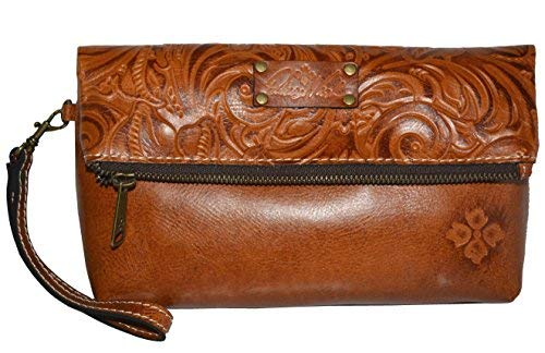 Patricia Nash Wristlet Clutch Italian Leather Valerie LG Wallet ()