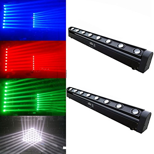 2pcs/lot DMX 8x12w RGBW 4in1 Cree LED Beam Moving Head Light Bar Club DJ Wash Stage Spot