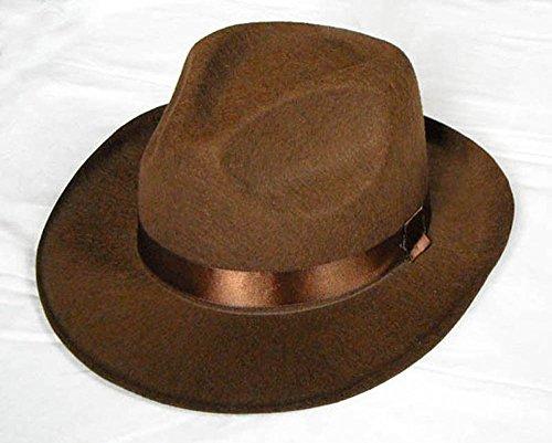 Brown Fedora Adult Hat (Brown Fedora Hat ADULT or CHILD Costume Indiana Jones Freddy Kreuger Men or Boy (Child))