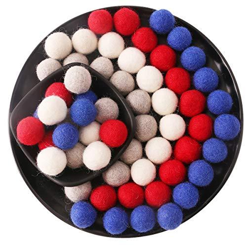 (Promise Babe Felt Ball 100% Wool 60pc 20mm DIY Decoration Garland Handmade Pom Poms Hanging Ornaments Cat)