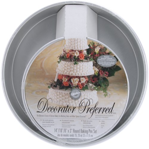 Decorator Preferred Cake Pan Set-6, 10, 14 Round