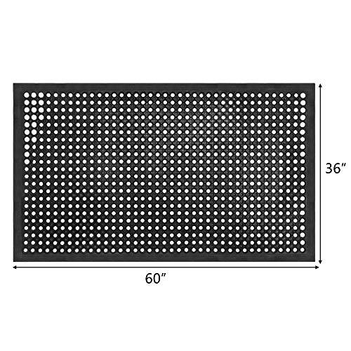 ROVSUN Rubber Floor Mat, 36''x60'' Anti-Fatigue/Non-Slip Drainage Mat, for Industrial Kitchen Restaurant Bar Bathroom, Indoor/Outdoor Cushion by ROVSUN (Image #6)