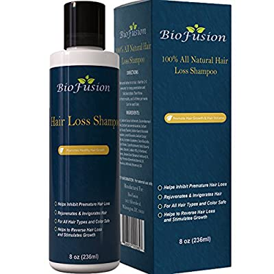 Hair Loss Shampoo for Men & Women – Best Topical Hair Regrowth & Prevention – Use to Improve Thinning Hair & Natural Anti Hair Loss – For Dry Oily and Damaged Hair – USA Made By Biofusion 8 oz