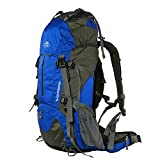 Topsky Internal Frame Backpack Hiking Backpacking Packs Travel Backpack with Rain Cover for Outdoor Sports Camping Climbing Mountaineering(Blue, 50L) For Sale