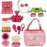 "Beverly Hills 18"" Doll Accessory Set, Tote with Camera, Binoculars, Ipod & Make Up10 Pcs"