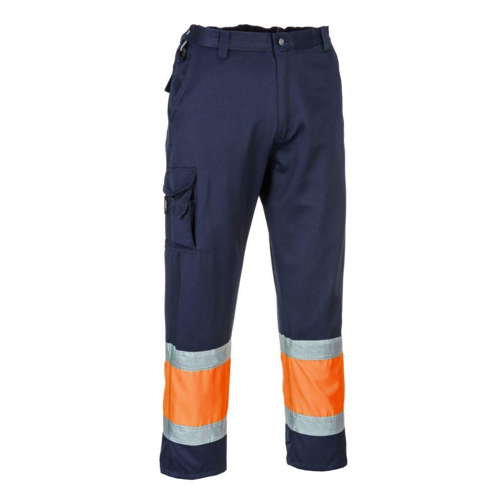 Pantalones de combate 2 unidades color amarillo y azul marino Portwest E049YNTXXL Hi-Vis