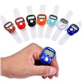 Bazaar Mini Stitch Marker Row Finger Counter LCD Electronic Digital Counter For Sewing Knitting Weave Tool