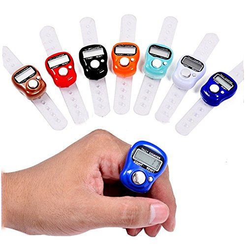 Bazaar Mini Stitch Marker Row Finger Counter LCD Electronic Digital Counter For Sewing Knitting Weave Tool Big Bazaar