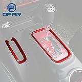 Automotive : Opar Red Gear Shift Knobs Cover Trim for 2011 - 2018 Jeep JK Wrangler & Unlimited