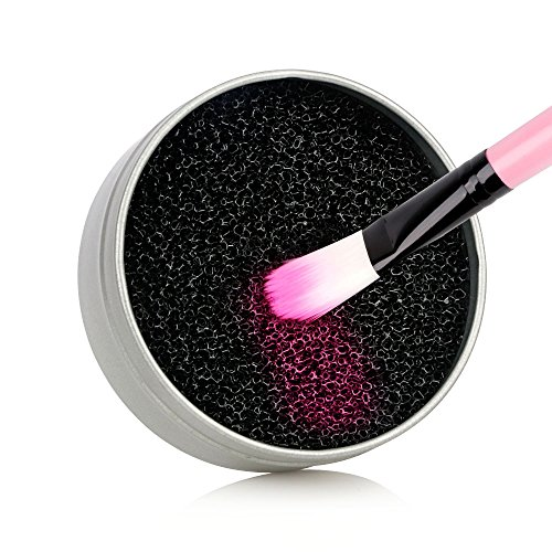 Cleaning Makeup Brushes - MS.DEAR Color Removal Sponge - Dry Makeup Brush Quick Cleaner Sponge - Removes Shadow Color from Your Brush without Water or Chemical Solutions - Compact Size for Travel