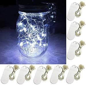 Amazon.com: Cadena de luces LED de 8 piezas, 20 luces de ...