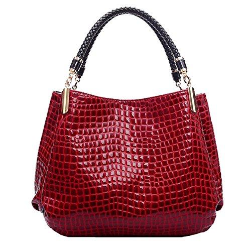 Win8Fong - Bolso al hombro para mujer Red