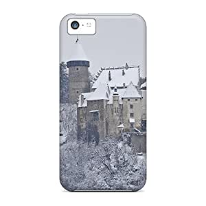 High-quality Durability Cases For Iphone 5c(lovely Old Castle In Winter)