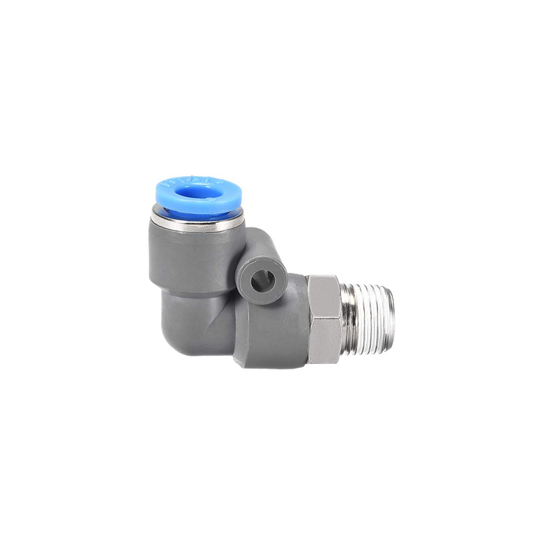 uxcell Elbow Push to Connect Air Fittings 6mm Tube OD X 1//8PT Male Thread Pneumatic Quick Release Connectors Grey 2Pcs