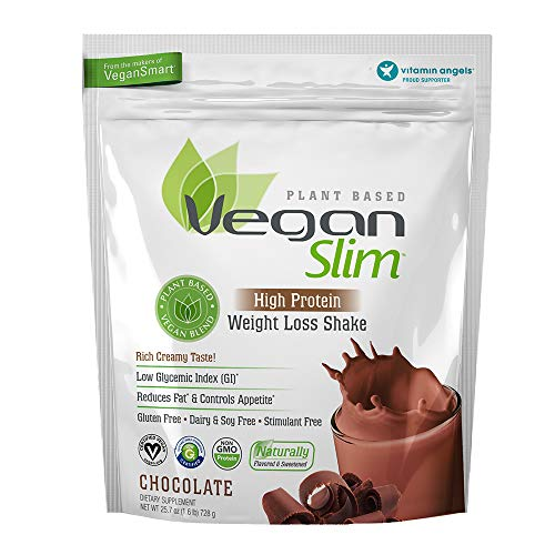 Naturade Veganslim Plant Based Vegan High Protein Weight Loss Shake - Chocolate - 25.7 oz
