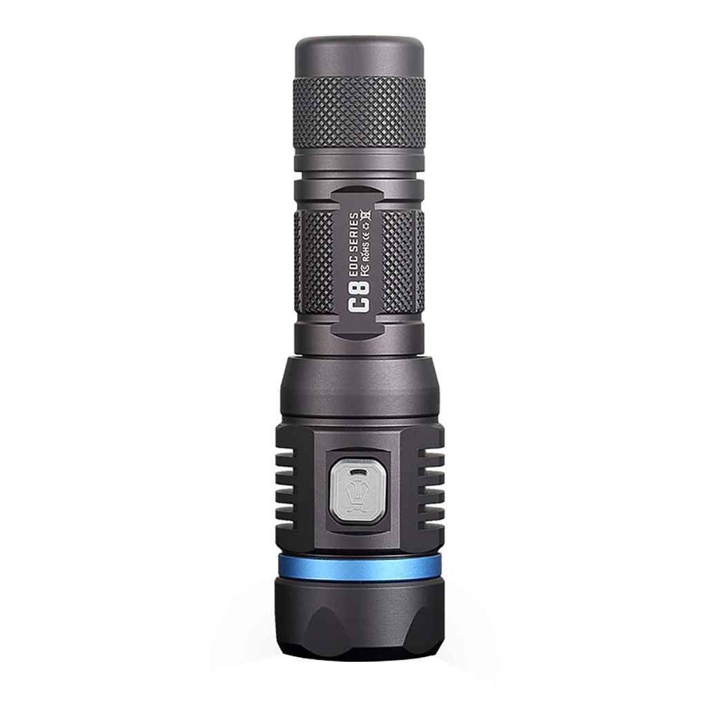 F-Blau NITEYE C8 Pro Wasserdichte Taschenlampe 1200 Lumen LED Taschenlampe Lampe 230m Lichtstrahl-Abstand