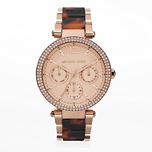 Michael Kors Darci Rose Gold Tone Tortoise Watch - Michael Tortoise Kors Watch
