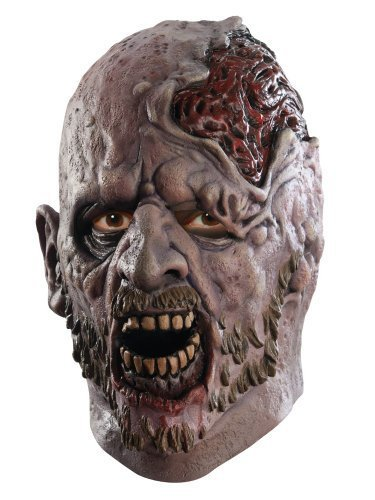 Of The Dead Costume Zombie Shaun (The Walking Dead TV Show, Adult Screaming Corpse Latex Mask, One)