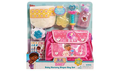 Doc McStuffins Baby Nursery Diaper Bag Set (Doc Mcstuffins Check Up Center Refill Stickers)