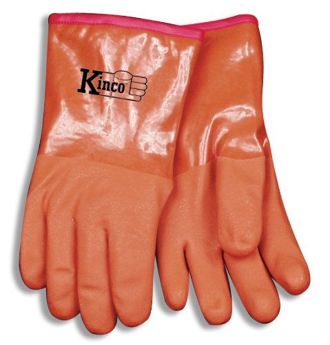 "Kinco 035117818255 Coated Acrylic Lined Pvc 12"" Work Glov..."