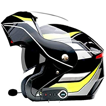 Amazon.com: H&ZT - Casco de motocicleta con Bluetooth ...