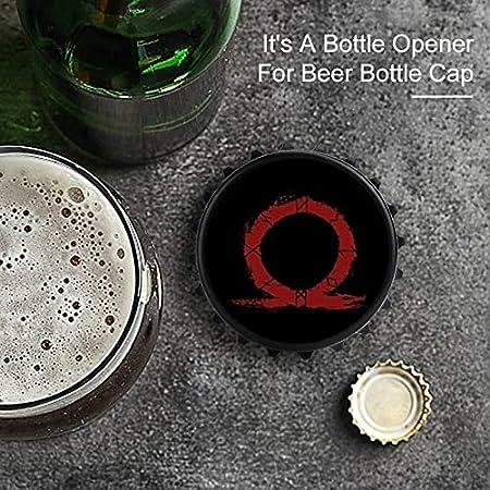 Símbolo de Dios de la Guerra Héroe de la Silueta de la Sangre del Abrebotellas Imán Trasero Etiqueta de Refrigerador, Forma Creativa de Tapa de Botella, Fácil de Abrir El Esfuerzo de la Botella.