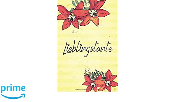 Lieblingstante A5 Liniert Softcover Notizbuch Tagebuch