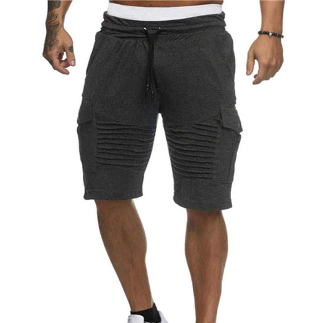 🌾🌾Amlaiworld Locker Sommer Strand Band Hosen Sport Mode Herren kurz  Shorts Freizeit 1 2 Gemütlich Jogginghose atmungsaktiv Outdoor männer  Pants  ... f9140f6c5c