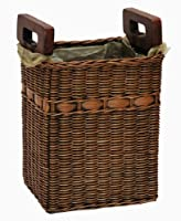 The Basket Lady World's Smartest Wicker Waste Basket