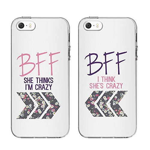 online store d7405 daee9 TTOTT Personalized Case For iPhone 5S/SE TPU Silicone Protective Cases [  Bumper Rubber Cover ] [ Various Design for Choice ] BFF Best Friends  Forever ...