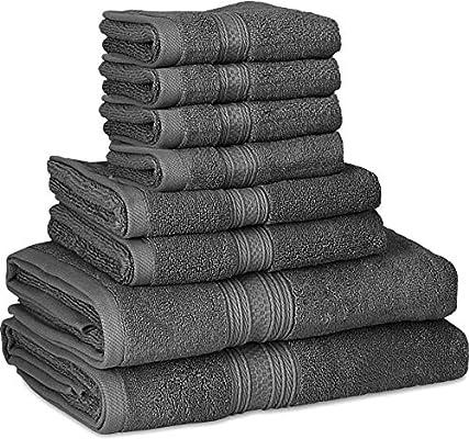 Utopia Towels - 700 GSM Juego de toallas de 8 piezas; 2 toallas de baño, 2 toallas de mano y 4 paños de ducha - Algodón - Lavable a máquina, ...