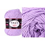 Milk Cotton Yarn R1002 knitting Yarn Scarf Yard Warm & Soft Yarn, Lilac(7#)