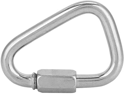 Hiking Backpacking Dog Leash/&Harness etc Camping Alomejor Carabiner Heavy Duty Outdoor Stainless Steel Mellon Locks for Hammock