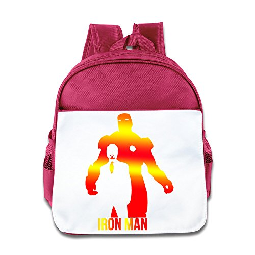 Cool Iron Man Design Kids Backpack Boys Girls School Bag(two Colors:pink Blue) Pink ()